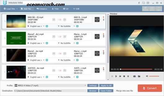 VideoSolo Video Converter Ultimate Crack Free